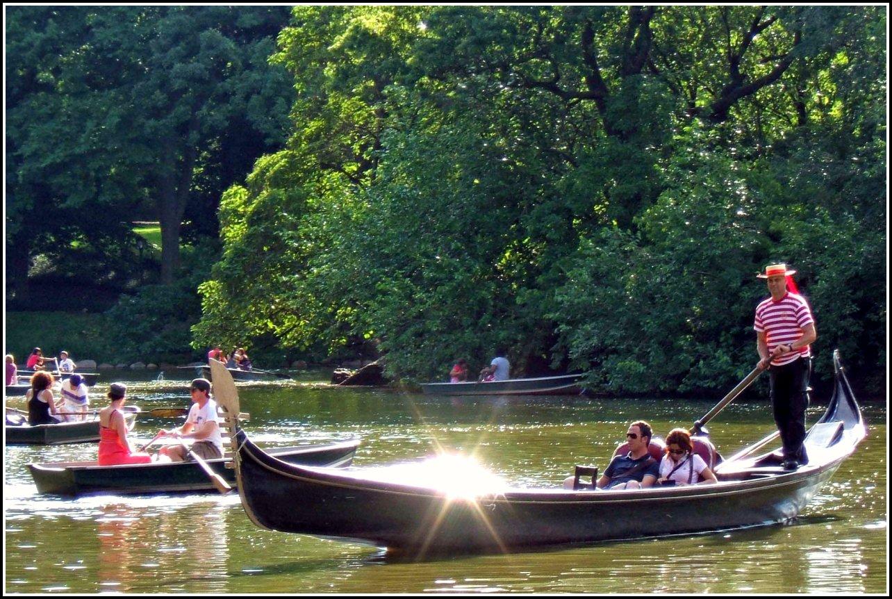 Gondolas on Central Park Lake